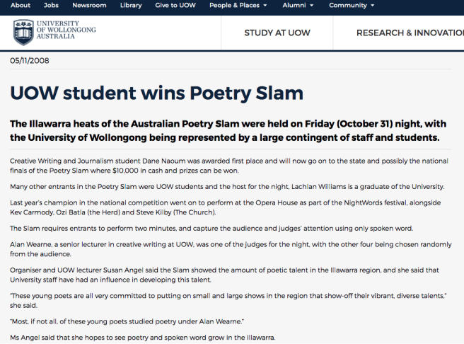 uow poetry story pic
