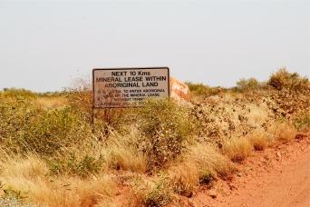 Granites Mining Lease sign